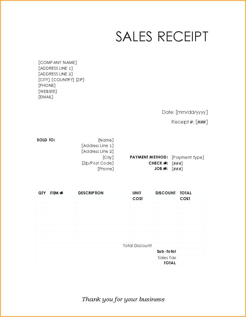 Credit Card Paymenteipt Template For Togo Wpart Co Example Regarding Credit Card Receipt Template