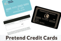 Credit Card Template For Kids ] – Kids Credit Card Pretend intended for Credit Card Template For Kids