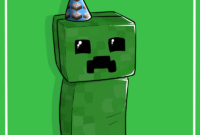 Creeper Birthday Cardlucieniibi.deviantart On with Minecraft Birthday Card Template