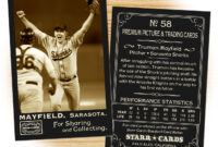 Custom Baseball Cards – Vintage 95™ Series Starr Cards within Custom Baseball Cards Template