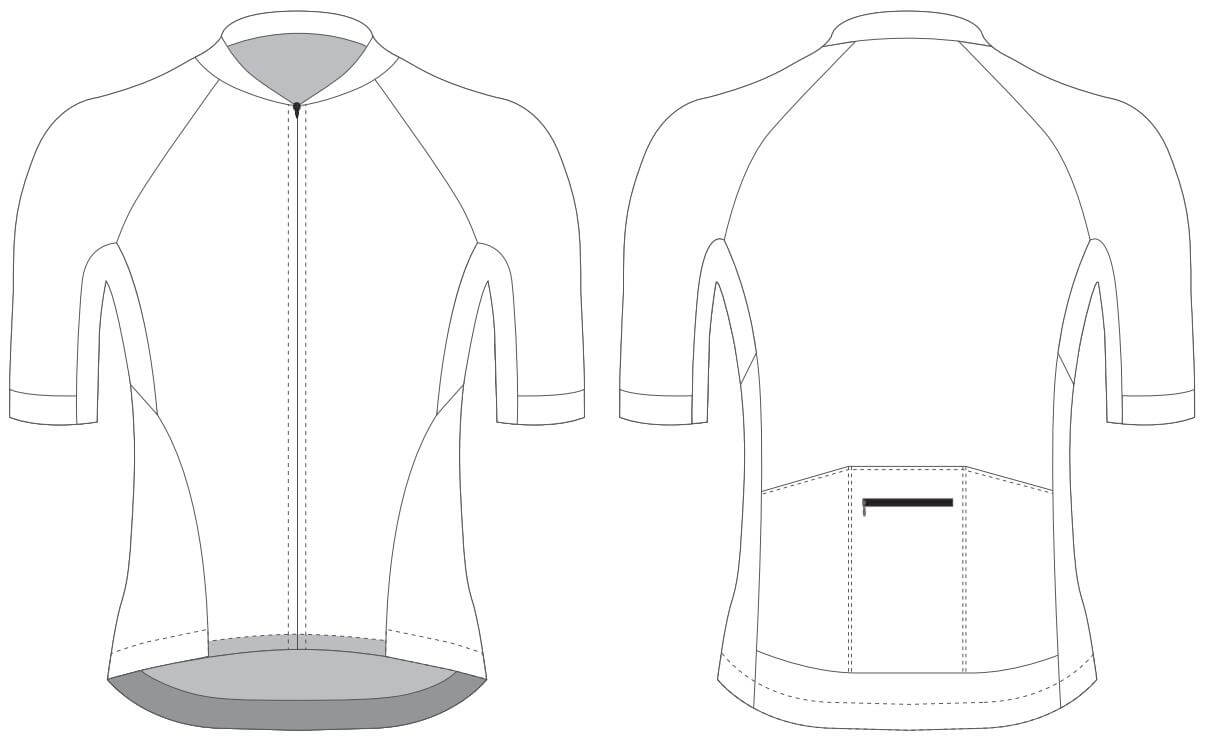 Custom Blank Cycling Jersey Design Template - Cyclingbox Within Blank Cycling Jersey Template