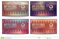 Customer Loyalty Card Templates Stock Vector – Illustration for Customer Loyalty Card Template Free