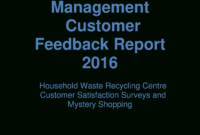 Customer Report | Templates At Allbusinesstemplates throughout Waste Management Report Template