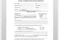 Customer Service Satisfaction Report Template | Sl1090-1 in Report Template Word 2013