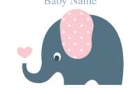 Cute Elephant Baby Shower Invitation Template | Baby Shower With Blank Elephant Template