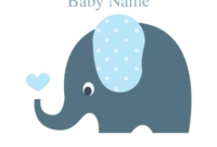 Cute Elephant Baby Shower Invitation Template | Free Baby Inside Free Baby Shower Invitation Templates Microsoft Word