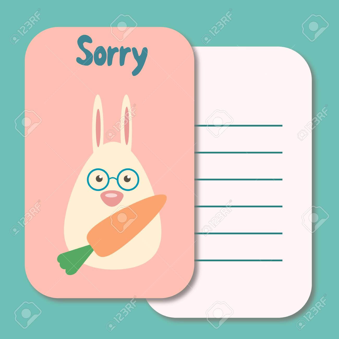 Cute Printable Illustration Sorry Card Typography Design Background.. Regarding Sorry Card Template