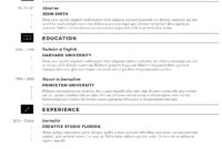 Cvfolio Best 10 Resume Templates For Microsoft Word Regarding Microsoft Word Resumes Templates