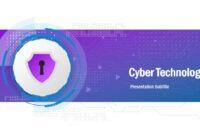 Cyber Technology Powerpoint Template for High Tech Powerpoint Template