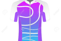 Cycling Jersey Mockup. T-Shirt Sport Design Template. Road Racing.. with Blank Cycling Jersey Template
