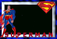 תוצאת תמונה עבור ‪superheroes Printable Frames‬‏ | Superman throughout Superman Birthday Card Template