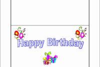 العلامة: Happy Birthday Card Template Microsoft Word أفضل الصور regarding Microsoft Word Birthday Card Template