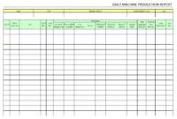 Daily Machine Production Report – regarding Machine Shop Inspection Report Template