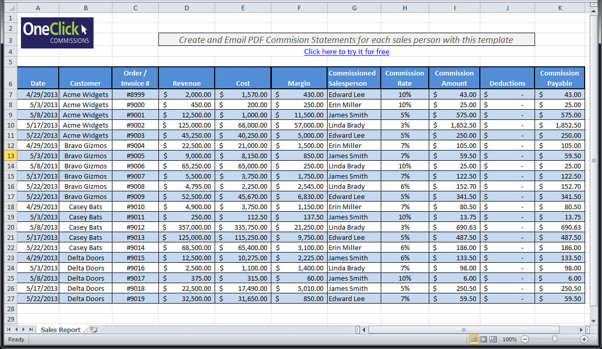 Daily Sales Call Report Template Free Download And Daily In Daily Sales Report Template Excel Free