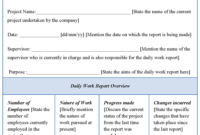 Daily Work Report Template | Report Template, Resume intended for Daily Work Report Template