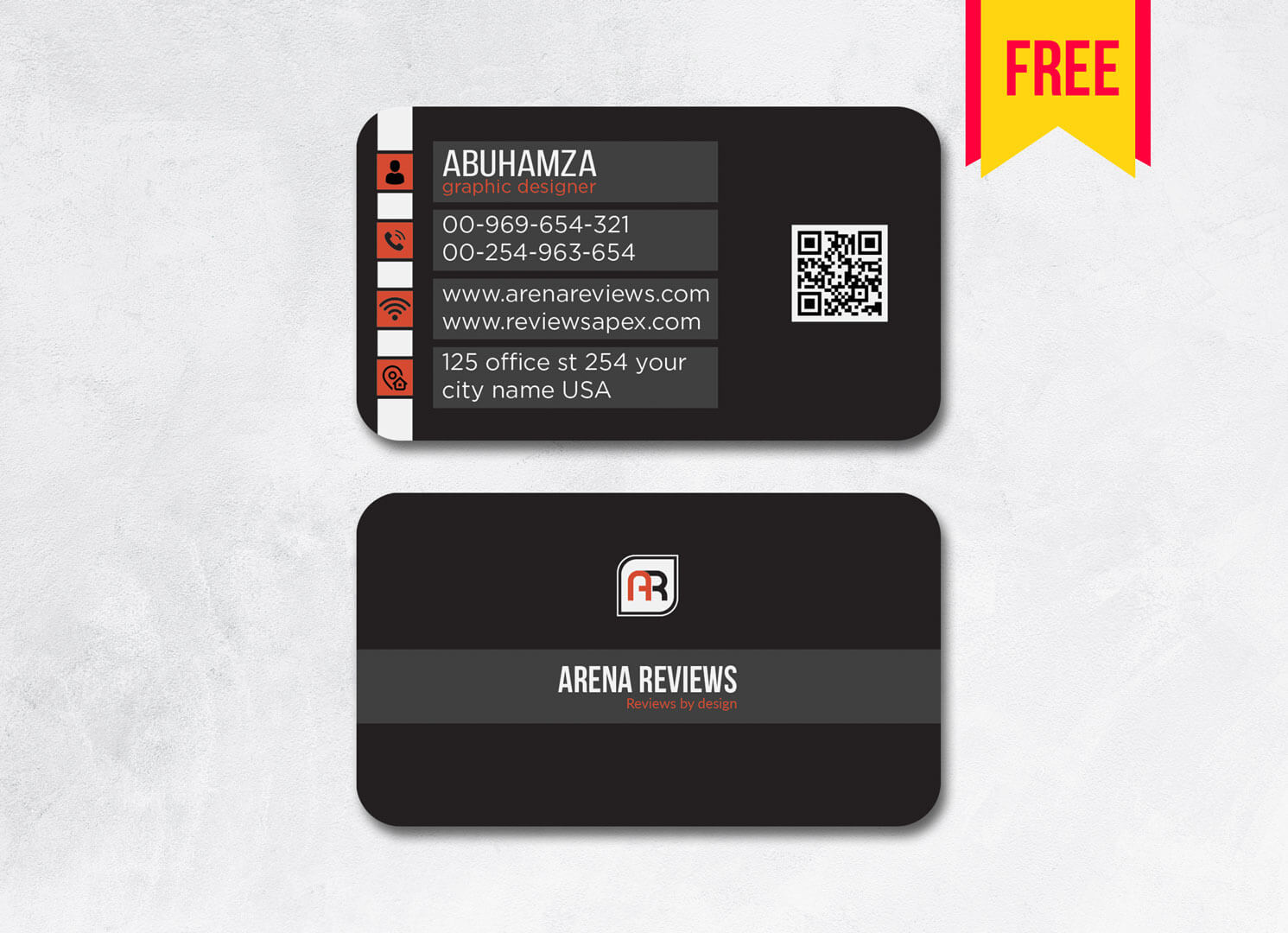 Dark Business Card Template Psd File | Free Download In Business Card Template Photoshop Cs6