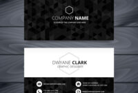 Dark Modern Business Card Design Template throughout Modern Business Card Design Templates