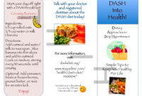 Dash Diet Brochure | Nutr 360 In Nutrition Brochure Template