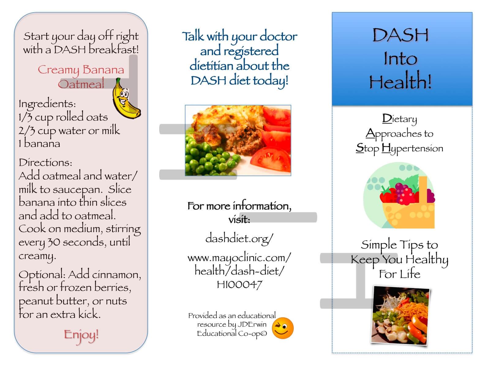 Dash Diet Brochure   Nutr 360 In Nutrition Brochure Template