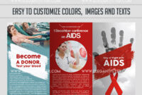 Day Of Fight With Aids Psd Brochure inside Hiv Aids Brochure Templates