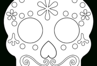 Day Of The Dead Masks Sugar Skulls Free Printable – Paper intended for Blank Sugar Skull Template