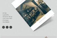 Dazzling Hotel & Travel A4 Bi Fold Brochure Template | Free pertaining to Hotel Brochure Design Templates