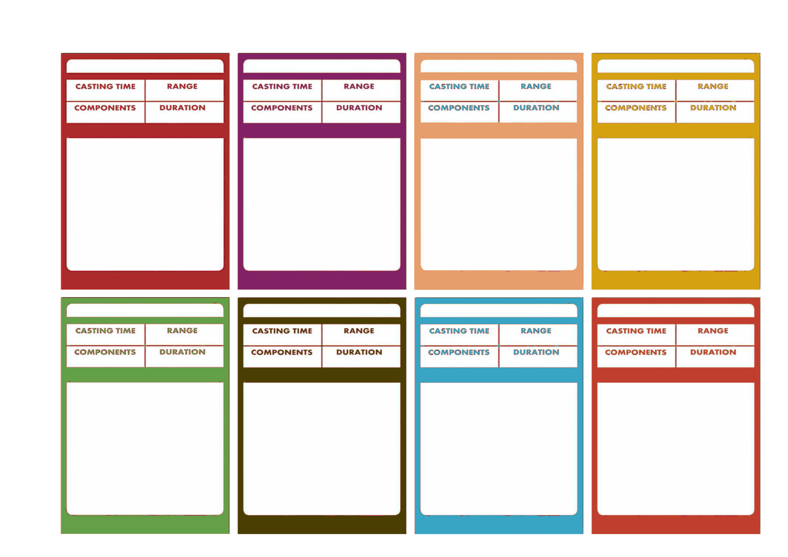 D&d 5E – Spellbook Cards | Trading Card Template, Dnd Spell With Blank Magic Card Template