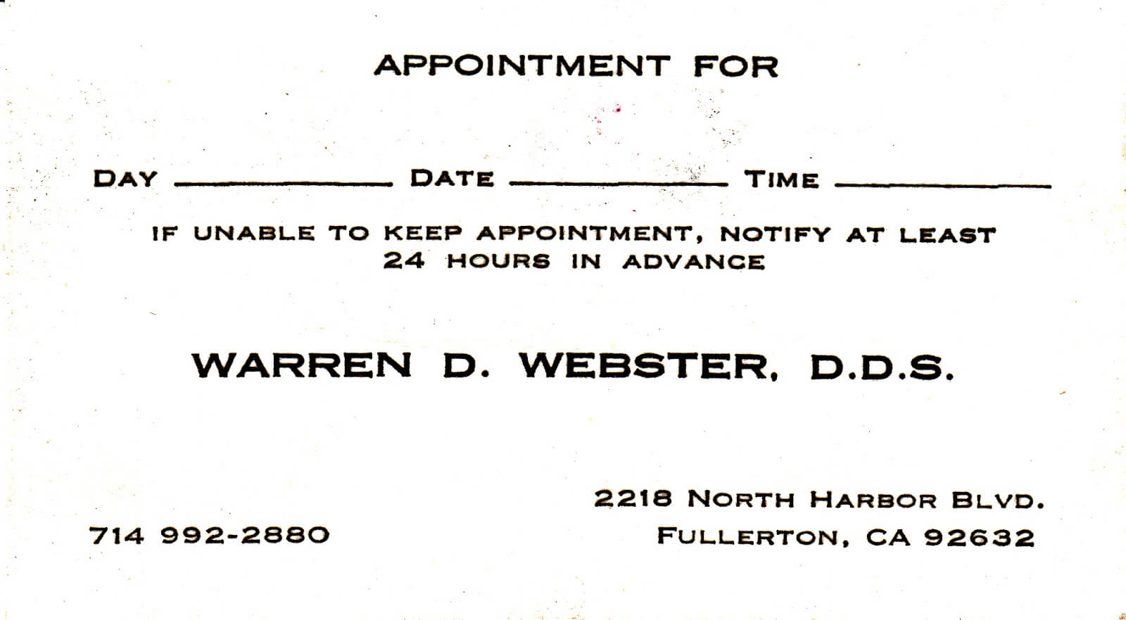 Dental Appointment Card - Zimer.bwong.co Throughout Dentist Appointment Card Template