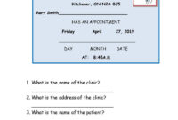 Dentist Appointment Card – English Esl Worksheets intended for Dentist Appointment Card Template