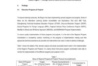 Deped Region 7 Qaad's Report On Regional Monitoring within Monitoring And Evaluation Report Template