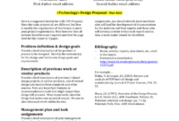 Design Report Template – University Of Washington intended for Project Analysis Report Template
