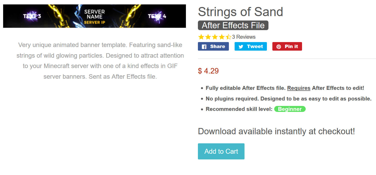Designer Gfx - Strings Of Sand - [Hq] Minecraft Server Regarding Minecraft Server Banner Template