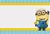 Despicable Me: Invitations And Party Free Printables inside Minion Card Template