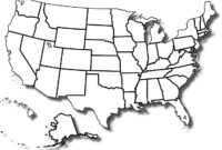 Details About Blank United States Map Glossy Poster Picture inside United States Map Template Blank