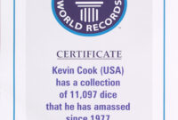 Dicecollector – Guinness Claim Information throughout Guinness World Record Certificate Template