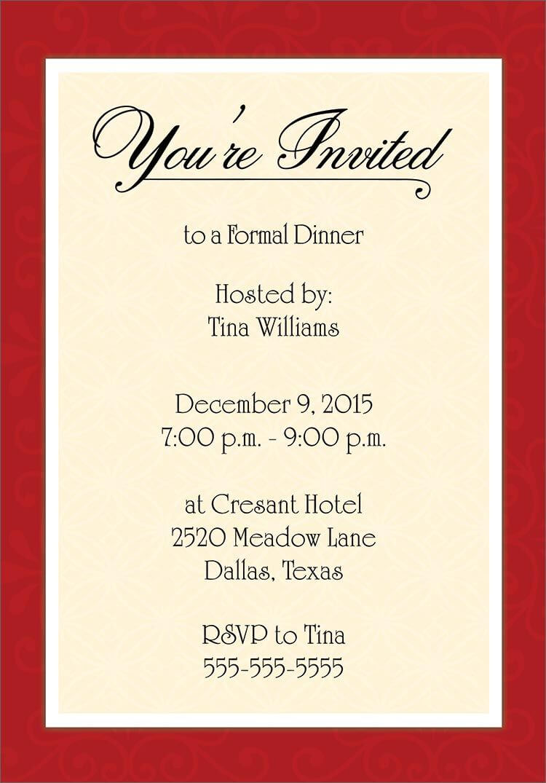 Dinner Invitation Template Free | Dinner Invitation Template Regarding Free Dinner Invitation Templates For Word