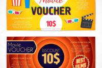 Discount Voucher Movie Template, Cinema Gift Certificate regarding Movie Gift Certificate Template