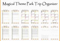 Disney World Blank Itinerary Template Calendar Template for Blank Trip Itinerary Template