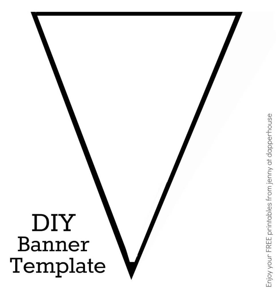Diy Banner Template Free Printable From Jenny At Dapperhouse Throughout Diy Banner Template Free