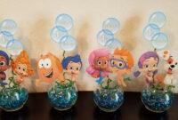 Diy Birthday Party Centerpieces. Bubble Guppies 1St Birthday in Bubble Guppies Birthday Banner Template