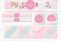 Diy Editable Etsy Shop Graphic Bundle Kit | Etsy Banner for Etsy Banner Template