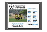 Diy Editable Pdf Sports Team Soccer Thank You Coach with Soccer Thank You Card Template