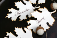 Diy Fall Place Card, Free Printable Download | Thanksgiving with Table Place Card Template Free Download