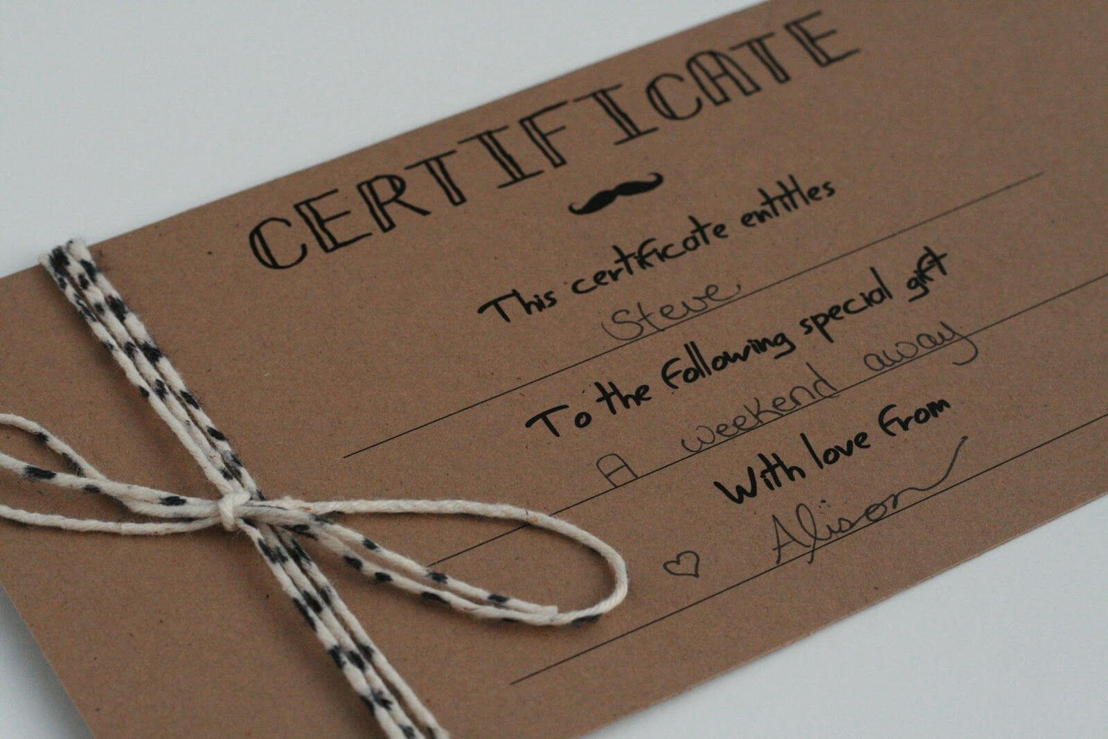 Diy Gift Certificates Template - Google Search | Gift Inside Homemade Gift Certificate Template