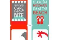 Diy Printable Beach Luggage Tags   Diy Bag Tags, Luggage Tag regarding Luggage Tag Template Word