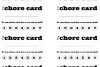 Diy Printable Kid S Chore Punch Card | Chore Cards, Kids For Reward Punch Card Template