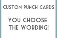 Diy Printable Punch Cards – You Choose Wording. This Is in Free Printable Punch Card Template