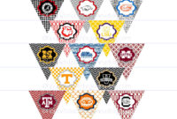 Diy Printables! Pennants Collegiate Tailgate Digital in College Banner Template