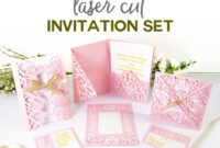 "Diy Wedding Invitation Templates – Free ""laser Cut"" Set pertaining to Pop Up Wedding Card Template Free"