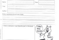 Do Book Reports 1St Grade – Assigning A Book Report In 1St with 1St Grade Book Report Template